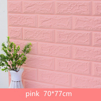 DIY Self Adhensive 3D Brick Wall Stickers Living Room Decor Foam Waterproof Wall Covering Wallpaper For TV Background Kids Room 18