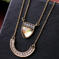 New Fashion Designer Choker Geometric Rhinestone Multi Layer Necklace & Pendants Women Jewelry Dress Accessories