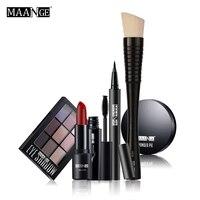MAANGE Makeup Set Nude Make Up Bare Eyeshadow Brush Lipstick Mascara Eyeliner Foundation Kit Maquiagem Pinceis