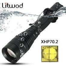 Litwod Z30P75 CREE XLamp XHP70.2 XHP50 чип 3200lm зум-объектив 18650 Мощный тактический светодиодный фонарь