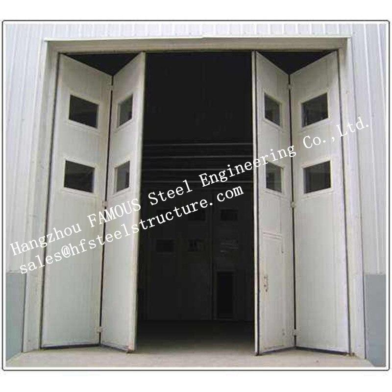 Aluminum Alloy Frame Upper Track Industrial Accordion Door For Aircraft Hangar