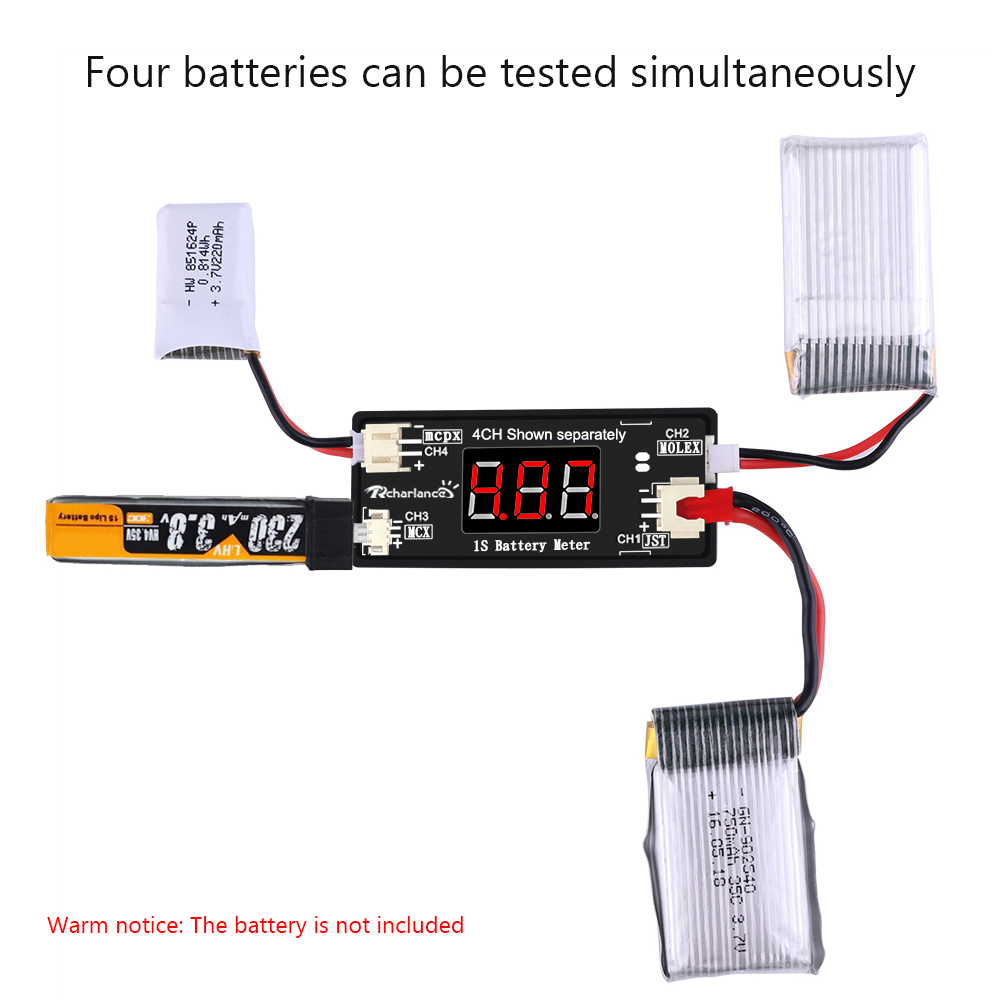 1s Lipo Battery Voltage Checker Tester For Rc Drone Quadcopter Wiring In Parallel Batteries With Jst Mcx Ph 20 And Micro Losi Cable Parts Accessories From Toys Hobbies