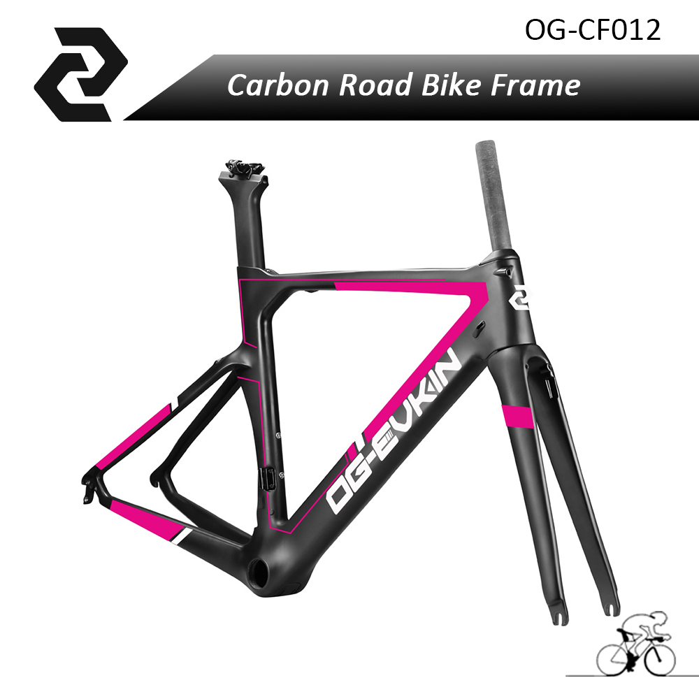 Women Bike Aero Track Road Bike Carbon Fiber Bicycle Frame BB386 Glossy/Matte UD Weave DI2 Fit with Shimona 9010/6800/5810 Brake