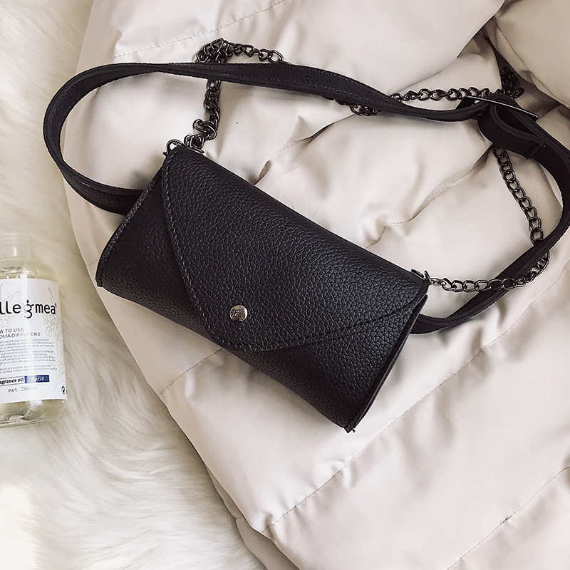 New Simple Mini Litchi print PU Women 39 s with One Shoulder Crossing Lady 39 s Change Mobile bag in Shoulder Bags from Luggage amp Bags