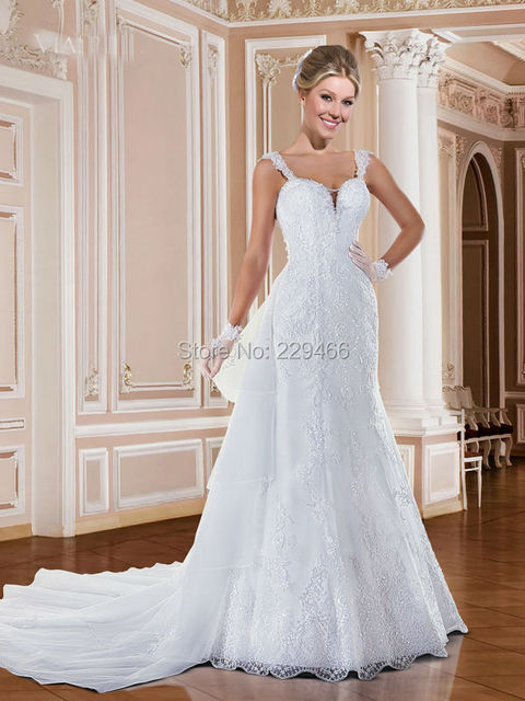 6c7dd90911252 Custom Made Bridal Sexy Backless Wedding Dress 2017 Beaded Mermaid  Spaghetti Straps Bride vintage Bridal Dress