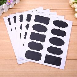 5 conjunto 50 pçs blackboard adesivo ofício apresentação jar organizador etiquetas vidro windows quadro deco artigos de papelaria material de escritório