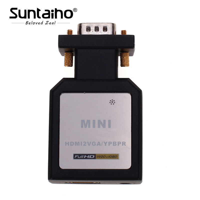Mini HDMI To VGA Ypbpr SPDIF Audio Converter Adapter Mini HDMI to VGA+Ypbpr Switch Audio and 3.5 mm for DVD HD Player PS3 32pcs set assorted nymph fishing fly combo trout bass blue gill panfish artificial lures with free double faced waterproof tac