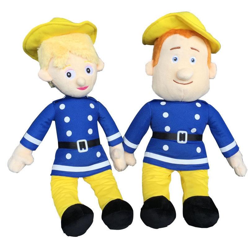 40cm Fireman Sam Toys Plush Doll Figures Brandweerman Sam Stuffed Animals Plush Doll Kids Girls Christmas Gift Toy Three Styles