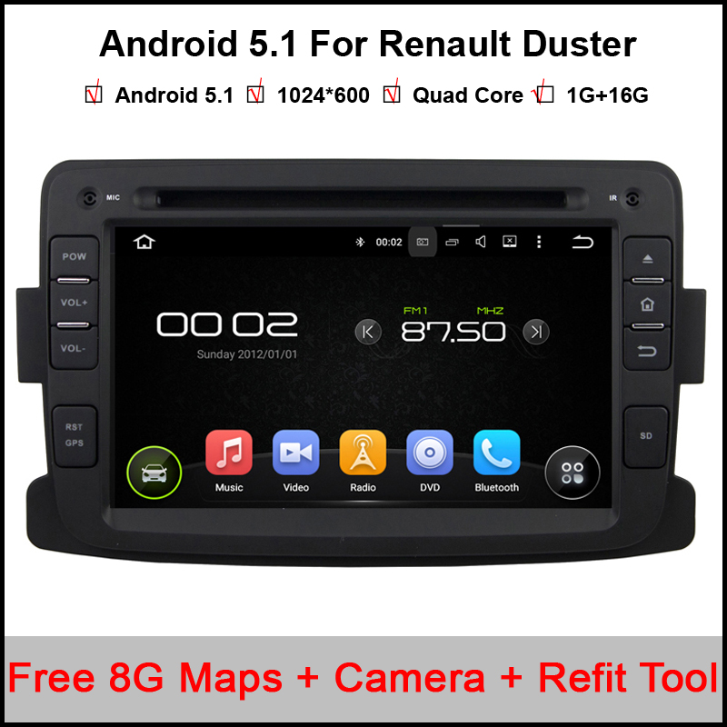 1024 600 7 39 39 quad core android 5 1 car dvd for renault duster with bluetooth 16gb nand flash. Black Bedroom Furniture Sets. Home Design Ideas