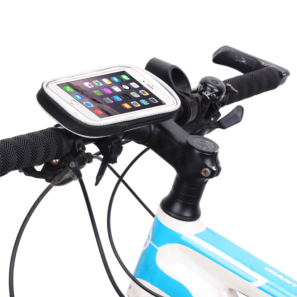 <font><b>Bicycle</b></font> Mobile Phone <font><b>Bag</b></font> Cycling <font><b>Bike</b></font> <font><b>Bag</b></font> Waterproof Phone Holder Bracket Front <font><b>Frame</b></font> Handlebar Pouch Case Accessories with Rope image