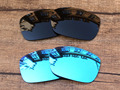 Black & Ice Blue 2 Pairs Polarized Replacement Lenses For TwoFace Sunglasses Frame 100% UVA & UVB Protection