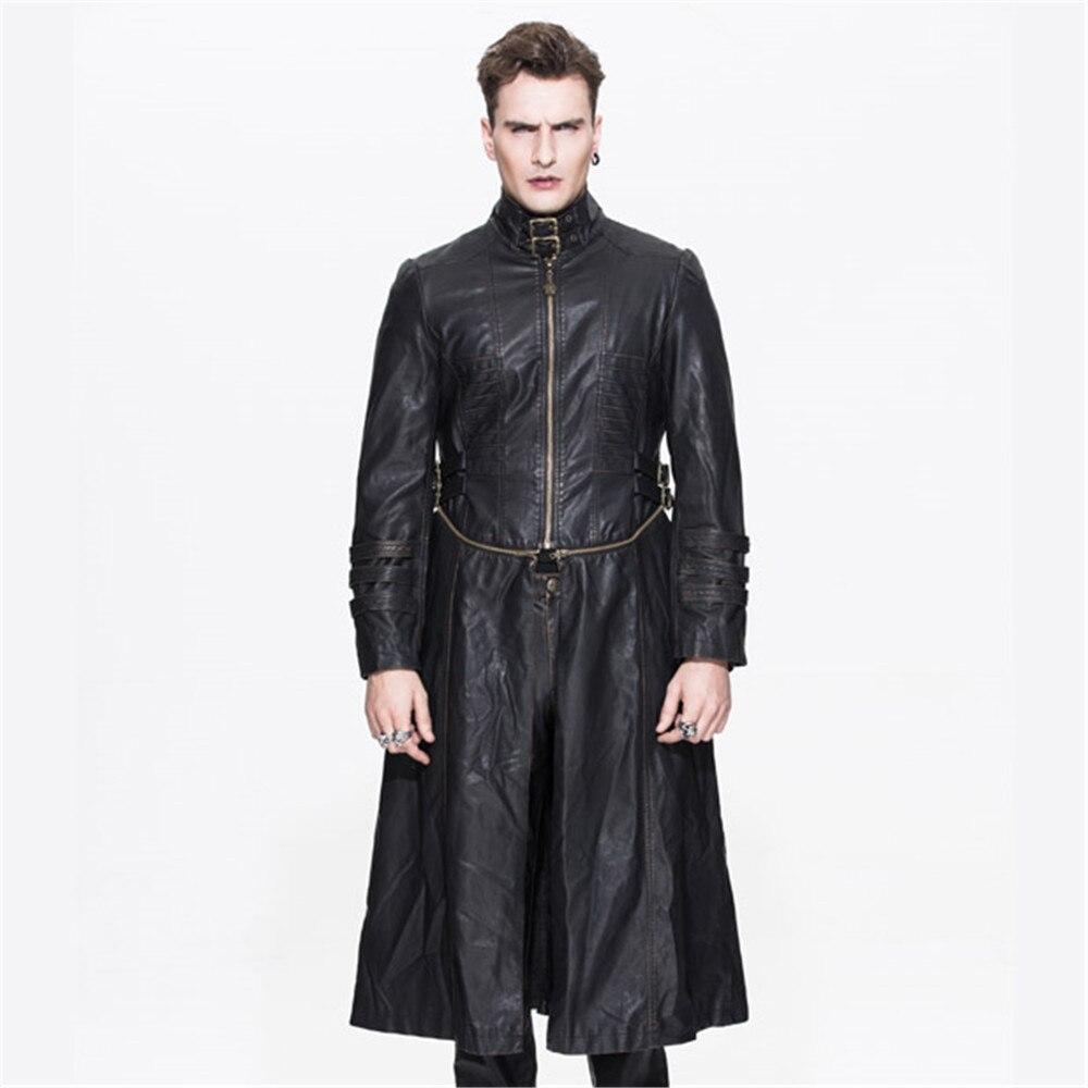 new style 7735f c5355 Steampunk Da Di Inverno Cappotto Outwear Casual Uomo Dell ...