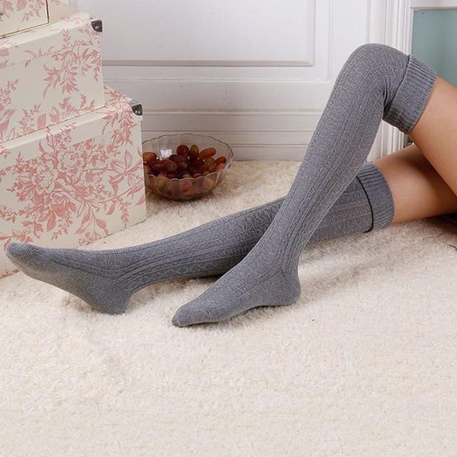 Tienda Online Moda invierno primavera largo Calcetines mujeres sobre ...