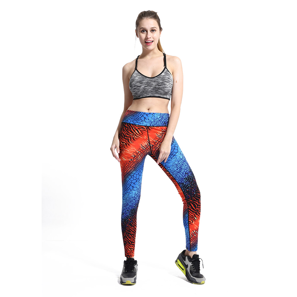 Womens High Waist Elastic Yoga Legging Stretch Running Ombre Tight Pants Trousers for Gym Sports Fitness Wear