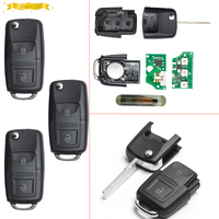 KEYECU 1J0 959 753 AG 1J0959753AG Folding Key Keyless Entry Remote Transmitter Starter Alarm For VW SEAT 2B 433MHZ ID48 Chip