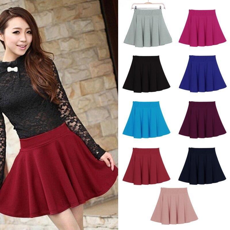 New Women Skirt Sexy Mini Short Skirt Fall Skirts Womens Stretch High Waist Pleated Tutu Skirt Korean Style 99 XRQ88