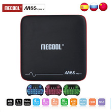 Mecool M8S PRO W TV box Android Smart TV box 7.1 Support 2.4G Wifi 4K 2+16GB with Voice Control Amlogic S905W CPU Set Top Box