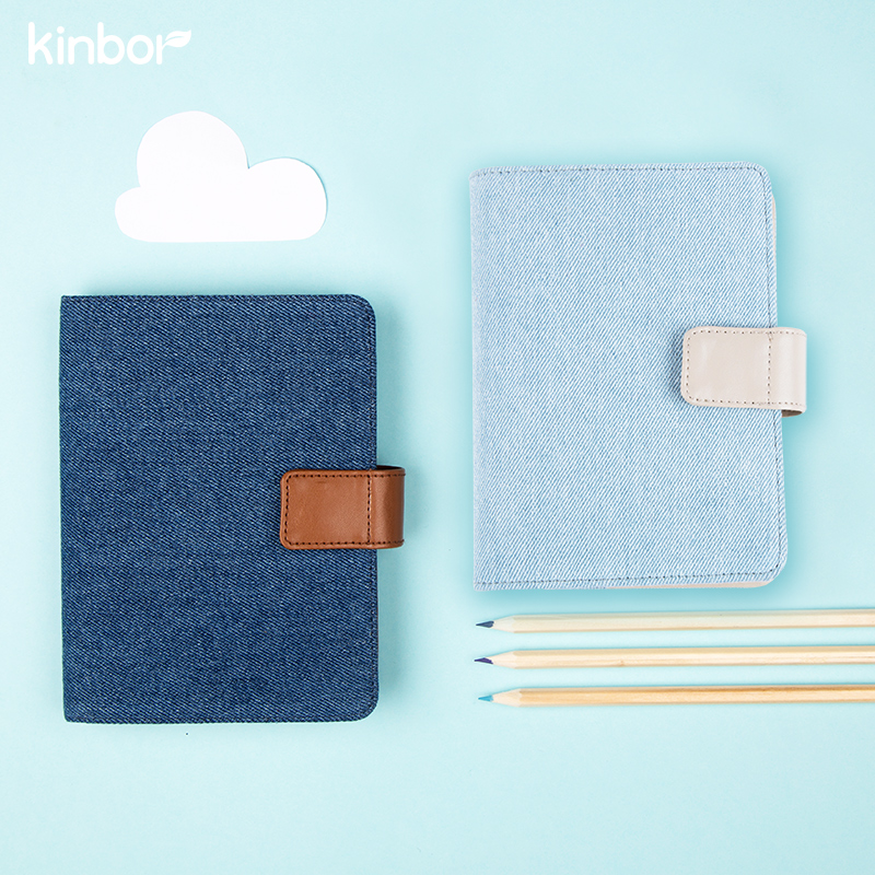 Cute Fresh Style Blue Cloth A5 A6 Traveler's Notebook 2017 P