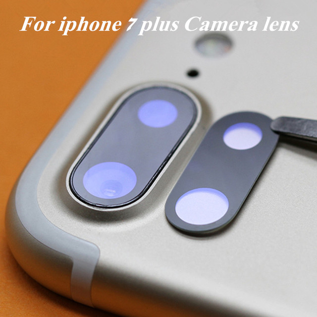 competitive price 4fe7d 2a9be US $5.51 8% OFF|2 pieces Original Camera Glass Lens Cover case For iphone 7  7 Plus Rear Back sapphire Glass Lens replacement Repair Spare Parts-in ...