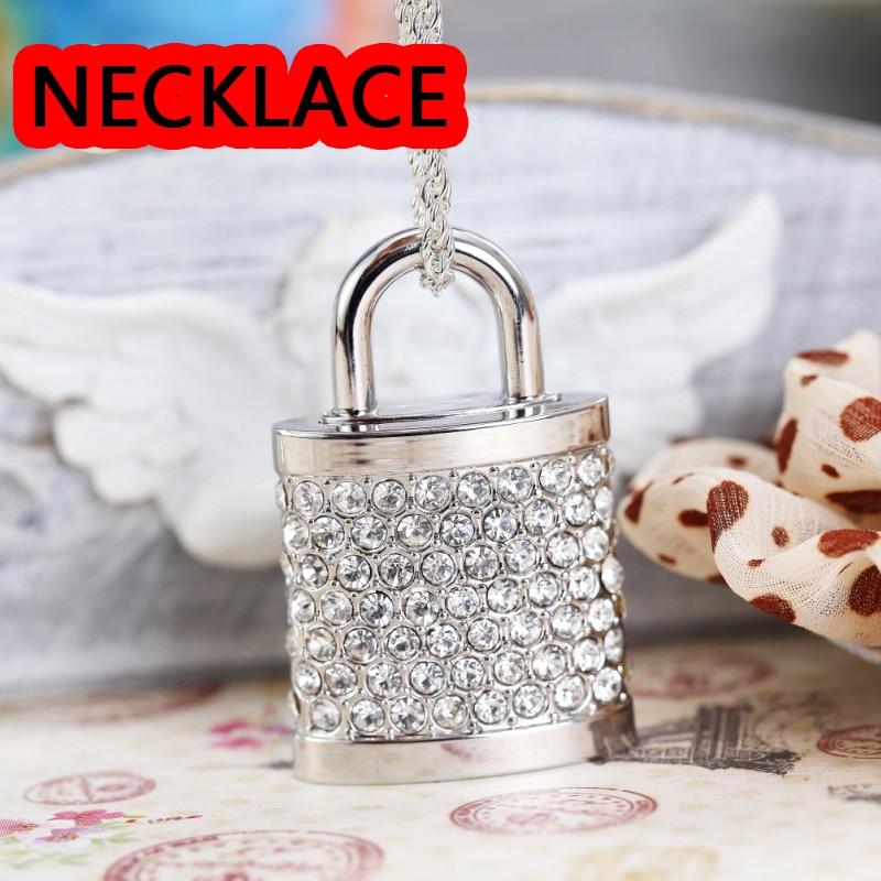 Gold Diamond Lock USB Flash Drive 512GB Genuine USB 128GB 16GB 32GB 64GB Gift Jewelry Pen Drive Pendrive Memory Stick Key Gift