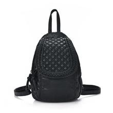 Backpack Women Leather Backpack 2016 New Design Backpacks for Teenage Girls Simple Mochila Feminina Free Shipping Women Backpack