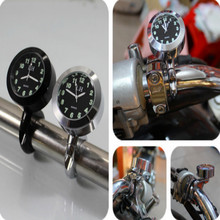 universal luminous waterproof motorcycle handlebar clock scooter motorbike Support diameter 22-25mm