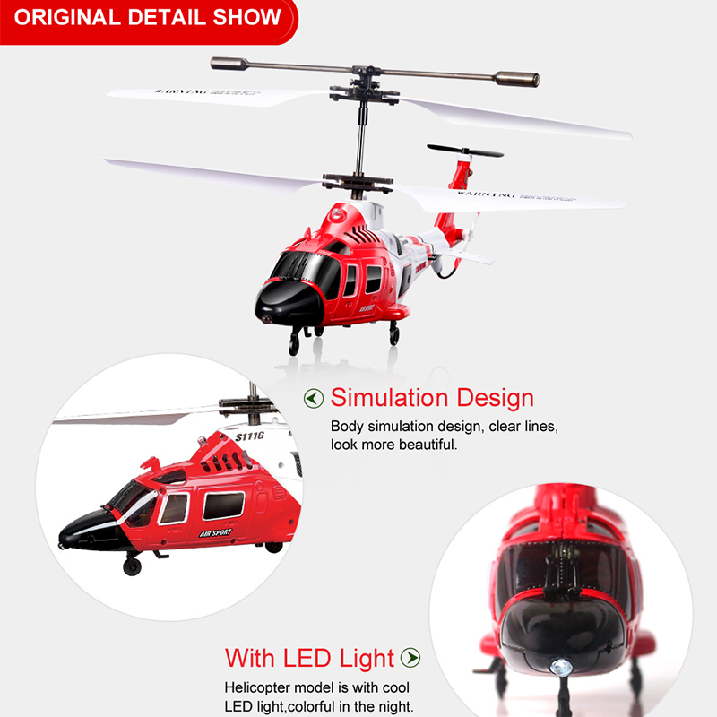 Image 4 - 100% Original SYMA S111G Military RC Helicopter With Night Light Mini Drone Easy Control  Aircraft with Gyro Toys Gift Funny-in RC Helicopters from Toys & Hobbies