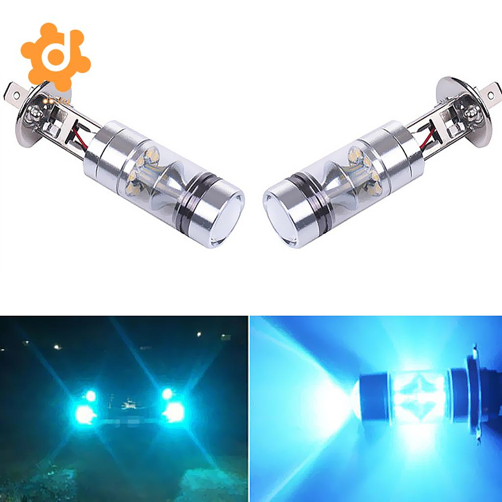 2 Pieces H1 20-SMD LED 100W Car Fog Driving DRL Light Bulbs 8000K Ice Blue h1 super bright white high power 10 smd 5630 auto led car fog signal turn light driving drl bulb lamp 12v