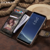 LUCKBUY 2018 Case For Galaxy S8 Vintage Luxury New Woods Pattern Painted PU Leather Flip Wallet