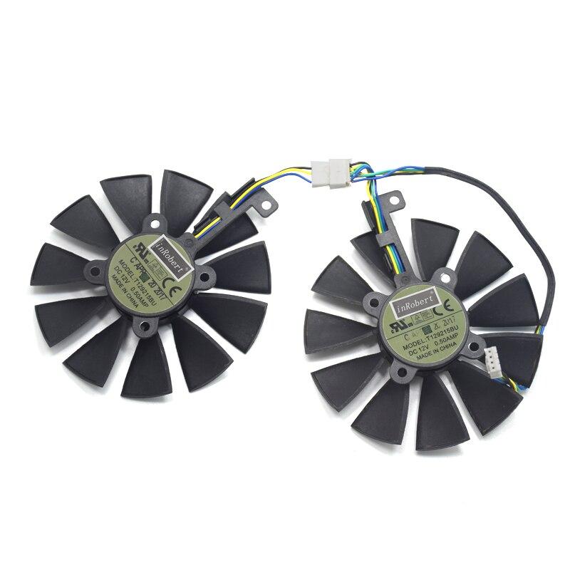 GTX1070 RX480 RX570 GPU ventilador T129215BU para ASUS 1066 EX-GTX1070-O8G DUAL-RX480-O4G EX-RX570-O4G tarjeta gráfica