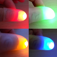 1 Pair Kids Amazing Fantastic Glow Toys Children Luminous Gifts Decor Novelty Funny LED Light Flashing Fingers Magic Trick Props