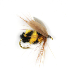 Wifreo 10pcs #10 Artificial Insect Bait Bumble Bee Fly Trout Fishing Lures