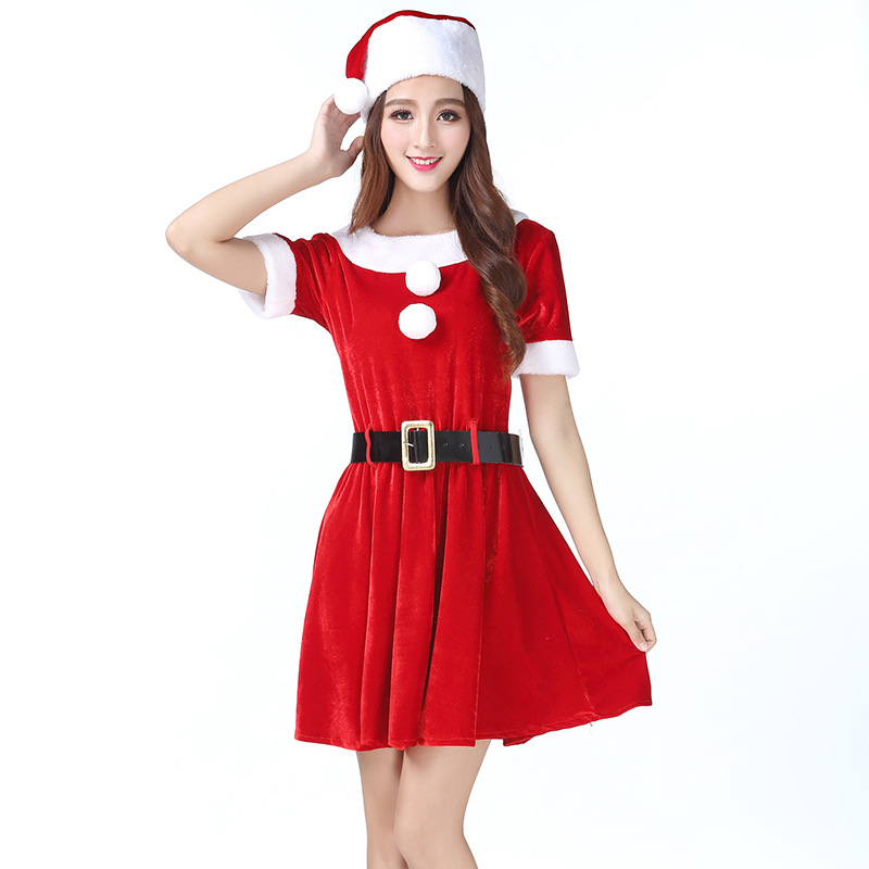 Christmas Costume for  Women Acting Dress Cosplay Princess  Christmas Party Clothes Lovely Charming  Dress Girls