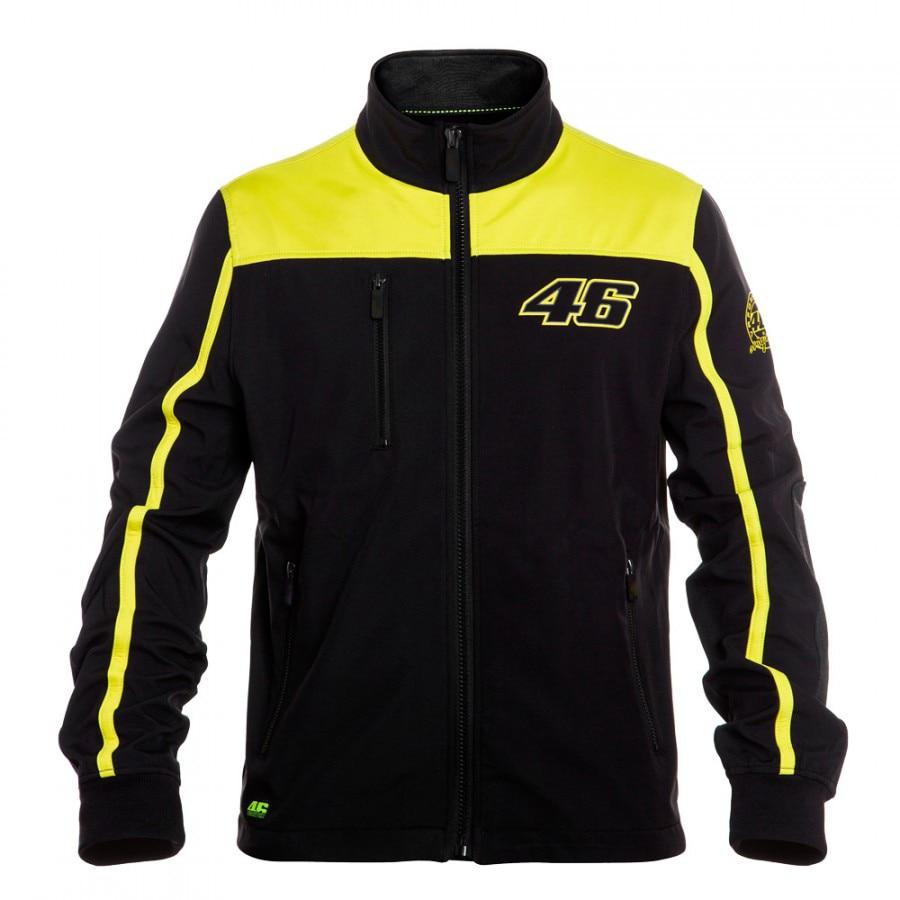 2016 VRfortysix Valen Rossi VR46 Large 46 Yellow Panel Moto GP Hoodie Sport Adult Sweatshirts