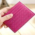 Ultrathin mini bus card card a bag lady sheepskin wholesale Taobao men's Woven tide card set document package