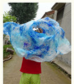 Женщины Bellydance Аксессуары Ручной Шарф Tie Dye Танец Живота Шелковые Вуали На Сцене Реквизит Супер Свет Красочный Бесплатная Доставка