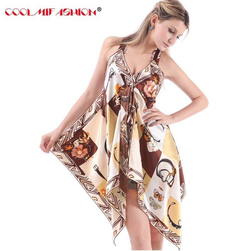 Women nightwear mini Nightgowns Fashion New Style deep v Strap Sexy Female Sleep Lounge Dress Woman Home Silky Dressing Gown