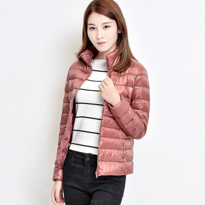 Женское зимнее пальто Новая мода 90% белый утиный пух куртка Сверхлегкий портативный тонкий пуховик женские зимние куртки парки - Цвет: Dark pink