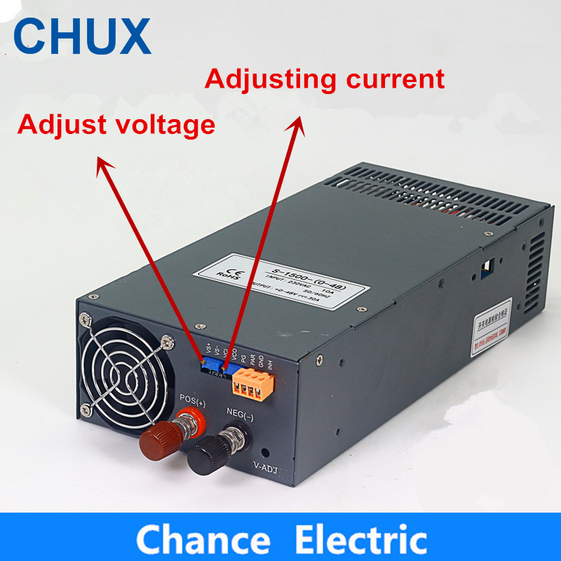 eecoo 24V-36V 2a Netzteil mit einstellbarem Netzteil geeignet f/ür DC-LED-L/üfter Einstellbarer Spannungsadapter EU Temperaturregelung