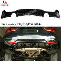 F32 Rear Lip Spoiler Bumper Diffuser for BMW 4 Series F32 F33 Coupe Convertible F36 Gran Coupe Sedan with M package 420i 428i