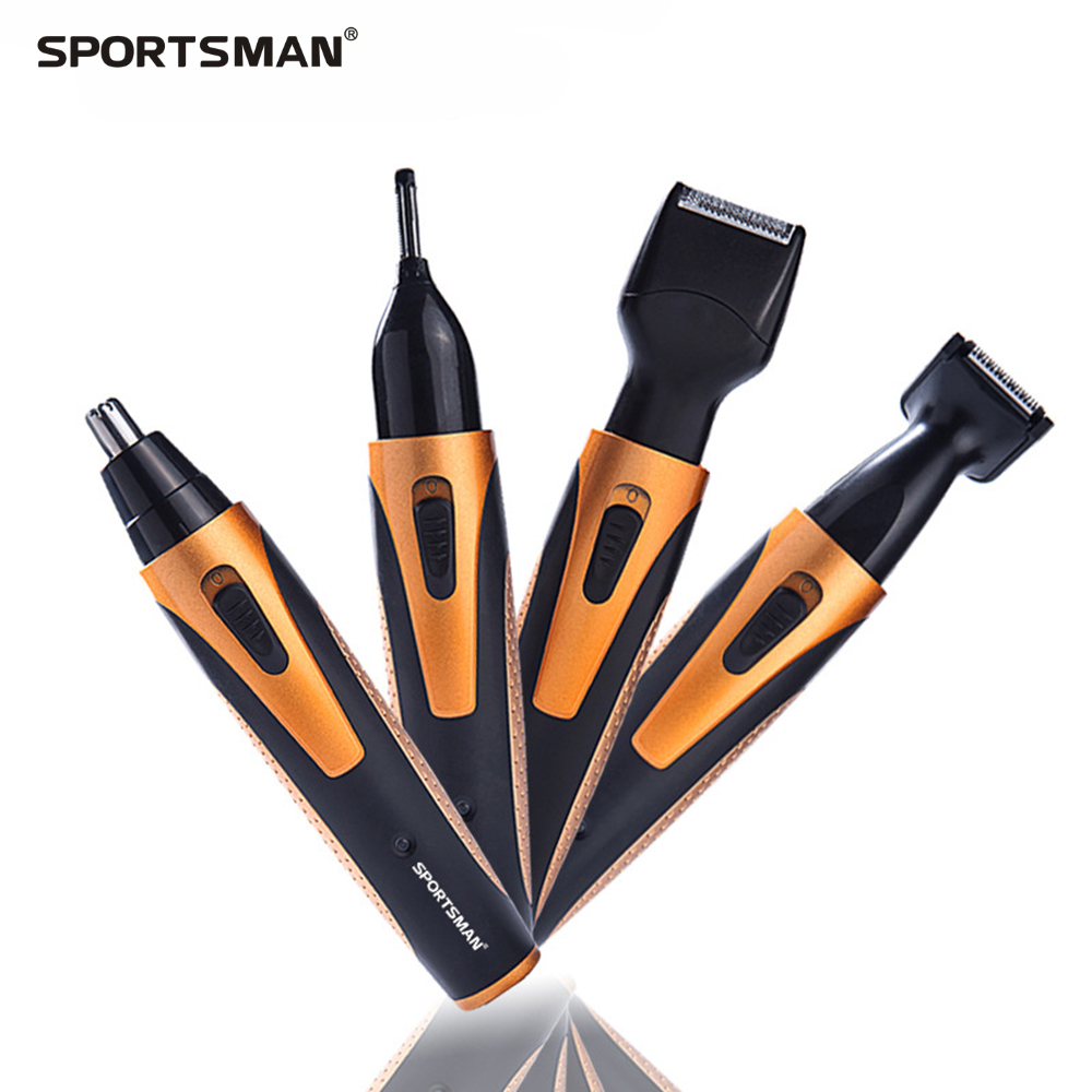 SPOTRMAN Electric Nose Trimmer for Nose Ear Sideburns Beard Hair Shaving Scraping Women Eyebrow Shaping Clip Device 4in1 2in1