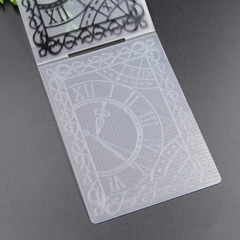 KLJUYP Klok Plastic Embossing Mappen voor DIY Scrapbooking Craft/Card Maken Decoratie Levert 206