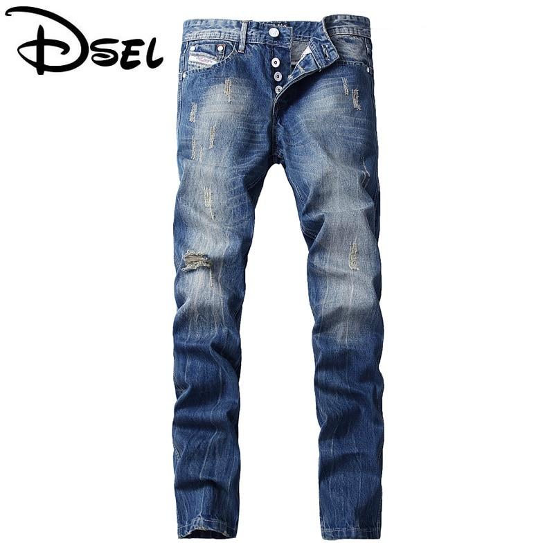 Designer Clothes Men Jeans High Quality Distressed Jeans For Men Dsel Brand Skinny Fit Ripped Jeans Men Pants Retro Men's Wear
