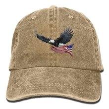 Eagle American Flag Unisex Cowboy Trucker Cap With Dad Baseball Style Hat (China) 69ca4dd6355a