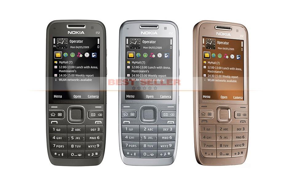 Refurbished phone Original Unlocked Nokia E52 GSM WCDMA cell phone Wifi Bluetooth GPS 3.2MP Camera black 2