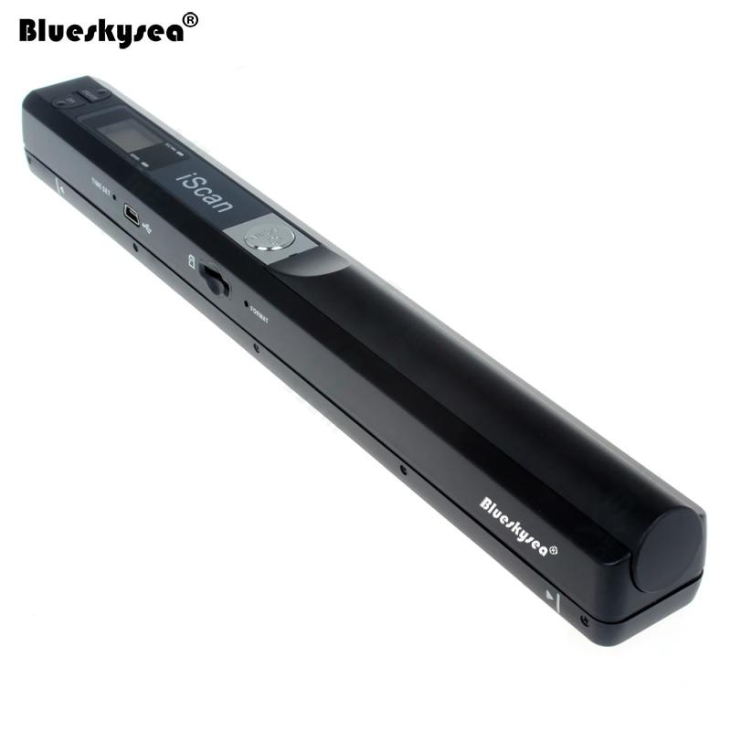 Iscan01 Портативный A4 сканер документов 24 бита USB 900 точек/дюйм ручной сканер документов для книги JPG/PDF файл изображения цвет A4 сканер