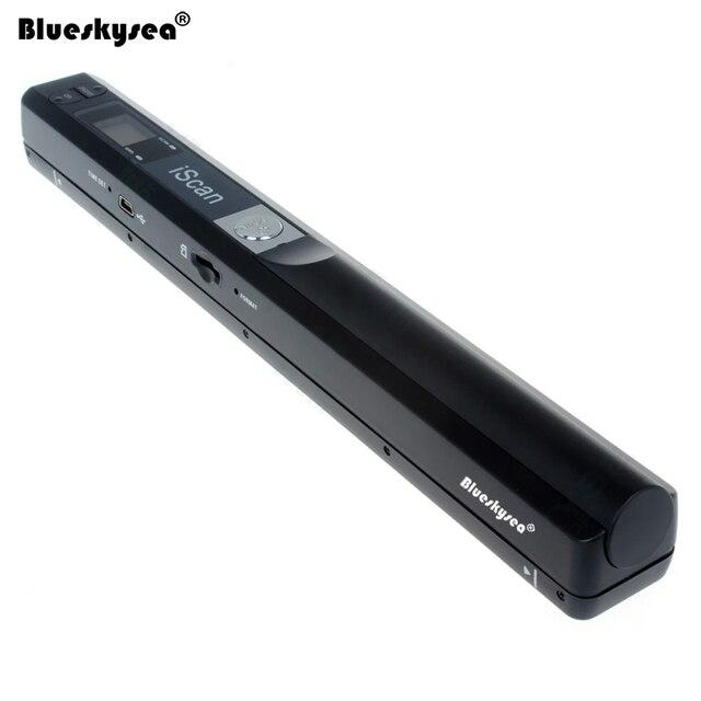 Iscan01 נייד A4 מסמך סורק 24 קצת USB 900 dpi כף יד מסמך סורק עבור ספר JPG/PDF קובץ תמונה צבע A4 סורק