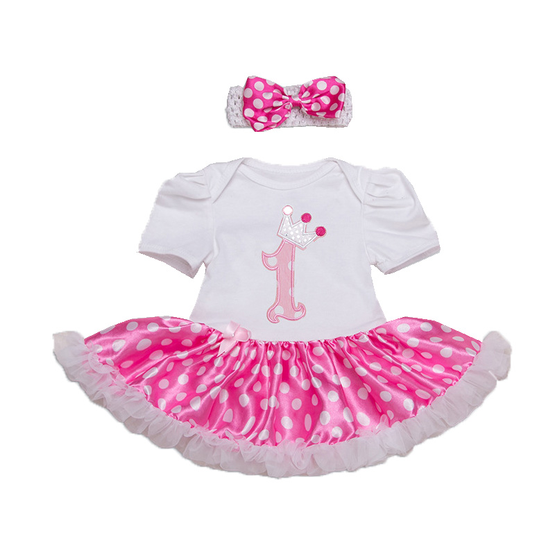 Image Baby Girl Party Clothing Sets 1st Birthday Gift Born Outfits 2 Pieces Suits Toddler
