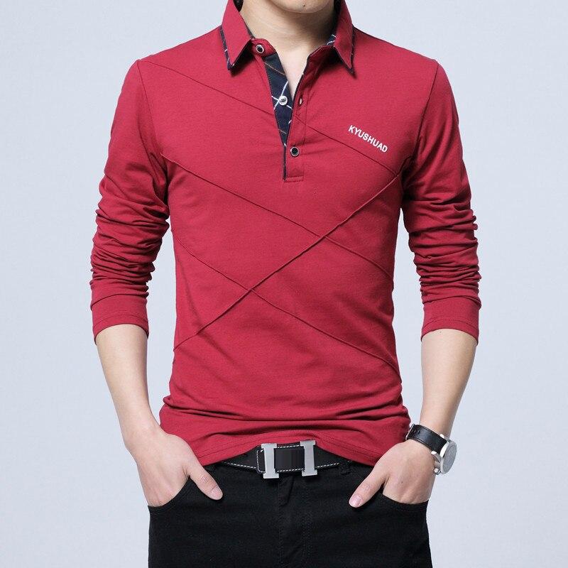 HTB15iqNatfvK1RjSspoq6zfNpXa3 5XL Polo Shirt Collar Men Plus Size 3XL 4XL Autumn Button Brand Men Polo Shirt Long Sleeve Casual Male Shirt Dress Polo Shirts