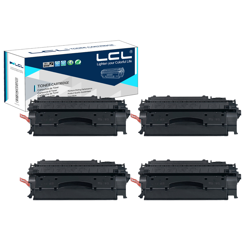 LCL 80A 80X CF280A CF280X 6900 Pages (4-Pack Black) Toner Cartridge Compatible for HP LaserJet Pro 400 M401a/d/n/dn/dw black toner cf400a 400a 2 pack toner cartridge compatible for hp color laserjet pro m252dw with chip
